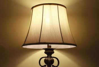 How To Paint A Brown Linen Lampshade White Home Guides Sf Gate