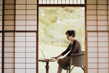 Shoji screens are often used as sliding doors in traditional Japanese decor.