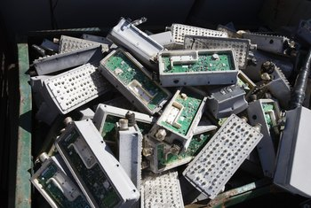 Some components in mobile phones and computers can harm the environment if not disposed of properly.