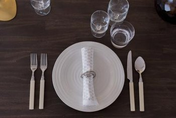 Informal lunches benefit from the order and simplicity of a proper table setting.