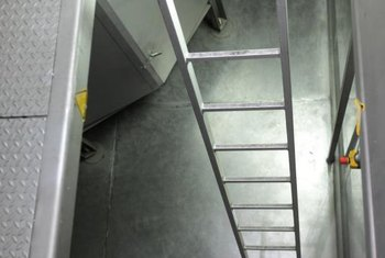 Floor hatches typically open to stairs, but may include a ladder instead.