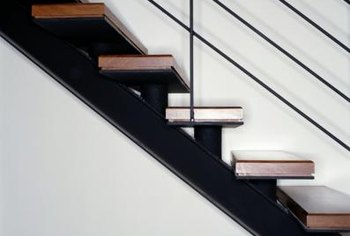 How to Calculate the Floor Space Needed to Install a Stairway | Home How To Build Bat Stairs on residential spiral stairs, use stairs, one open side stairs, do it yourself stairs, construction stairs, home stairs, remodel stairs, floor plans with stairs, calculator stairs, outdoor stairs, make stairs, standard rise for stairs, winder stairs, water stairs, model stairs, design stairs, wooden stairs, building stairs, run stairs, basement stairs,