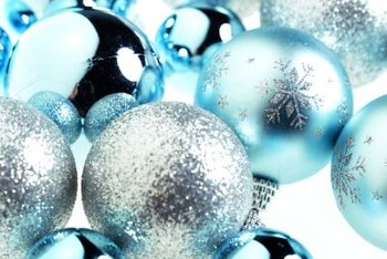 The classic blue and silver Christmas color scheme works with many decor styles.