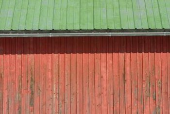 Recycle the siding from a barn scheduled for demolition.