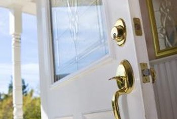 Choose white paint with a satin finish to brighten an exterior door. : door paint finish - pezcame.com
