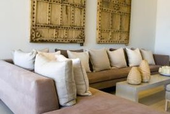 Adding accessories such as throw pillows can help give your sectional a new look.