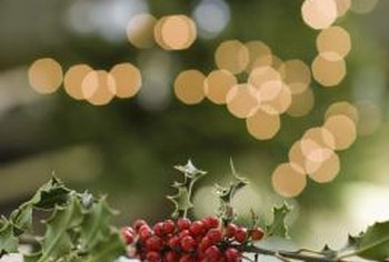 pay homage to an ancient tradition by decorating with holly
