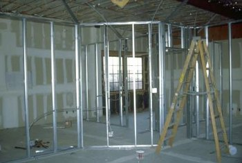 Interior walls constructed with metal framing.