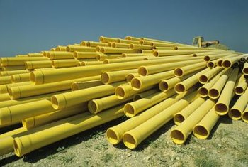 Blend your PVC pipes in with the wall to make them less noticeable.
