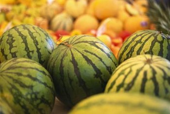 Baby watermelons usually develop into round or slightly oblong shapes.