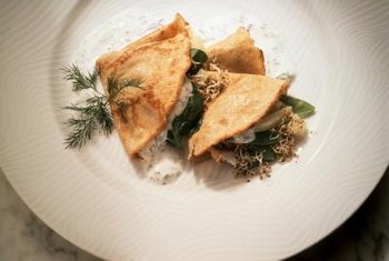 Crepes stuffed with vegetables make an interesting meal that packs a nutritious punch.