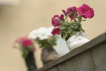 Any old shoe can become a pretty planter.