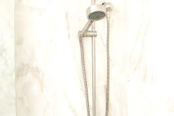 Slab showers can be granite, marble or other natural stone.