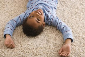 A soft nylon carpet is ideal for kids.