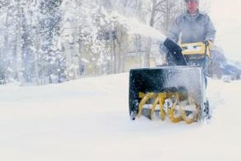 Adjust the idle speed and mixture on a snowblower carburetor.