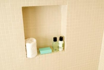 Shower caddies give products an out-of-the-way home of their own.