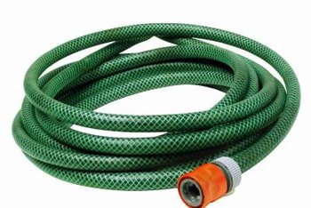 Gravity and a garden hose are all you need to get most of the water out of your waterbed.