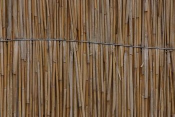 Bamboo fencing, available in rolls, makes a simple screen for a hatch door.