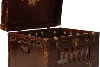 Refinish the inside and outside of a steamer trunk to match any room decor.