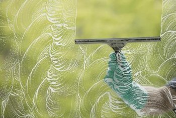 Gel decoration residue wipes off glass with the right cleaning method.