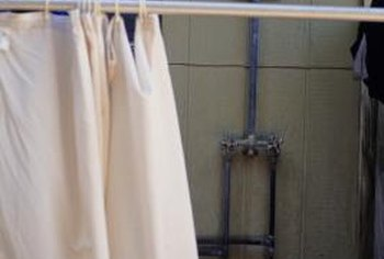 How To Cut A Regular Shower Curtain Into A Stall Curtain Home