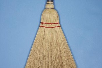 Use a straw, handleless broom to create the ridge texture.
