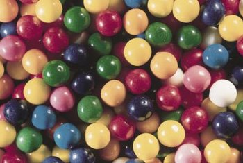 Gum can leave stains on fabrics.