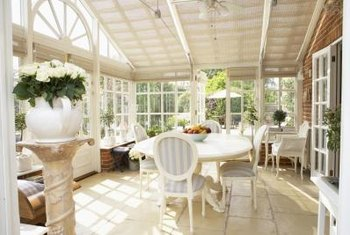 Treat the sunroom like a real room, not a porch, for comfortable year-round use.