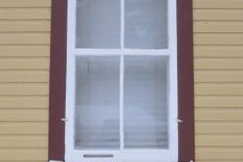 Storm windows add to the insulation value of the existing windows.