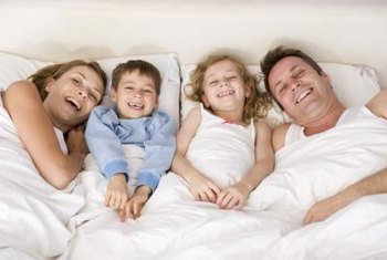 A California king mattress easily can accommodate several people.