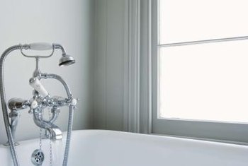 Create your own window film to add privacy to your bathroom without sacrificing natural light.
