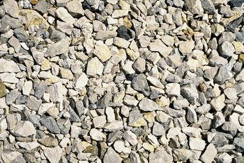 Multiple sizes of rock can create a textured appearance for your landscape.