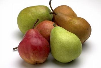 Place pears in a brown bag to encourage ripening.
