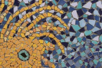 Predetermined Mosaic Tile Patterns Often Come With Mesh Backing