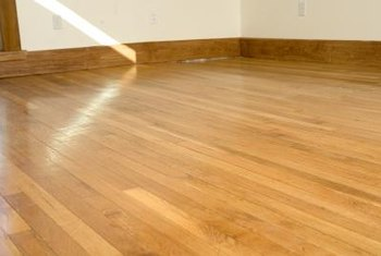 Wax adds extra shine to a floor.