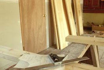 Make allowances for doorjambs when cutting openings.