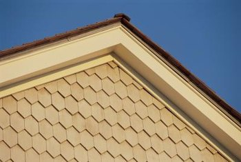 The rake edge on a roof.
