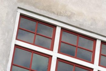 Vinyl window frames come in a variety of colors and styles to match architecture.