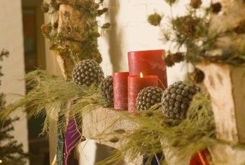 how to decorate shelves for christmas use natural elements for a rustic woodsy look
