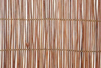 Bamboo cane fences can be built in a wide variety of styles.