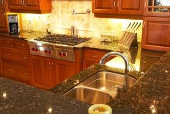 Beautiful cabinets enhance the decor of your kitchen.
