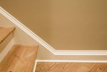 A rotted baseboard can be repaired by splicing in a new baseboard piece.