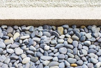 A border keeps rocks in place.