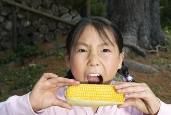 Fresh sweet corn is a favorite with children and adults.
