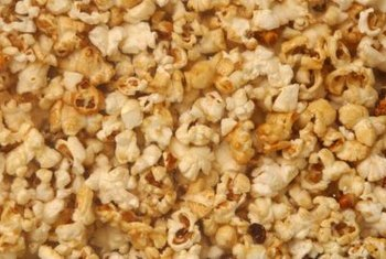 This traditional snack, popcorn, comes in snowflake and mushroom varieties.