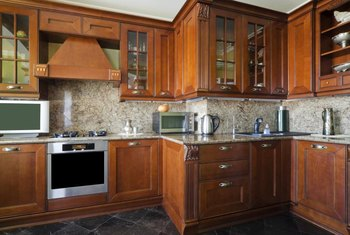 Air out and wash cabinet surfaces to remove odors. & How to Remove an Odor From Wooden Cabinets in a Kitchen | Home ...