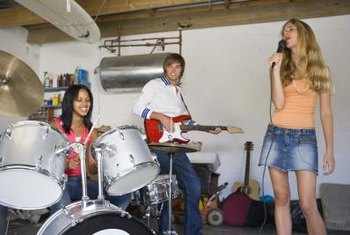 Soundproofing your garage can keep a music group's sound in and prevent neighbors from complaining about noise.