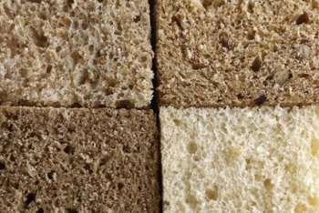 Sprouted wheat bread is one of the healthier varieties of bread.