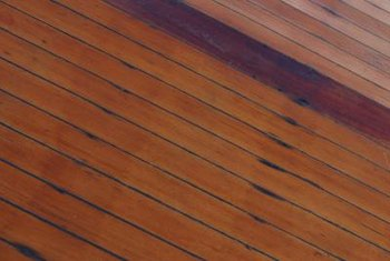 Decks can be stained a variety of colors.