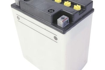 Mower batteries are lead-acid batteries, similar to the one in your car.